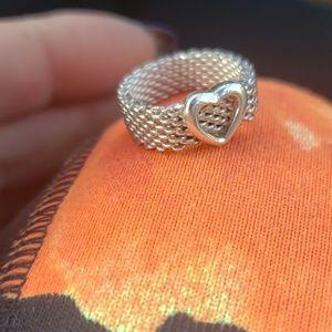Tiffany & Co. Jewelry - Tiffany & Company Mesh heart ring